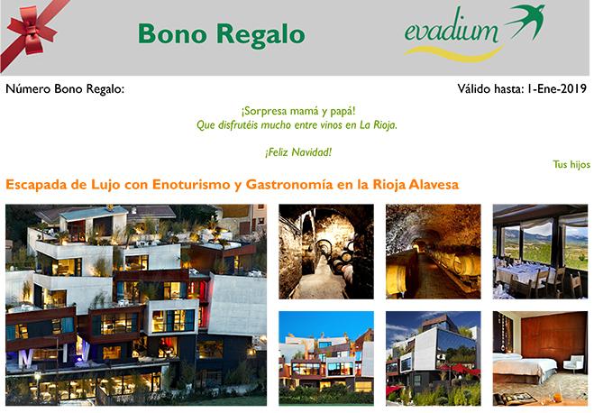 Ejemplo Bono Regalo Evadium con dedicatoria