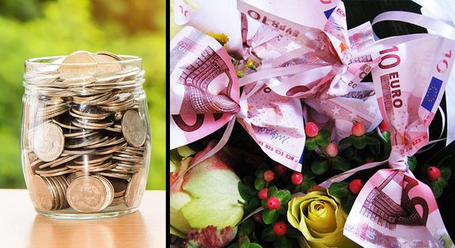 Regalar dinero en las bodas