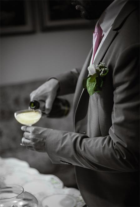 Brindis en la boda de los novios