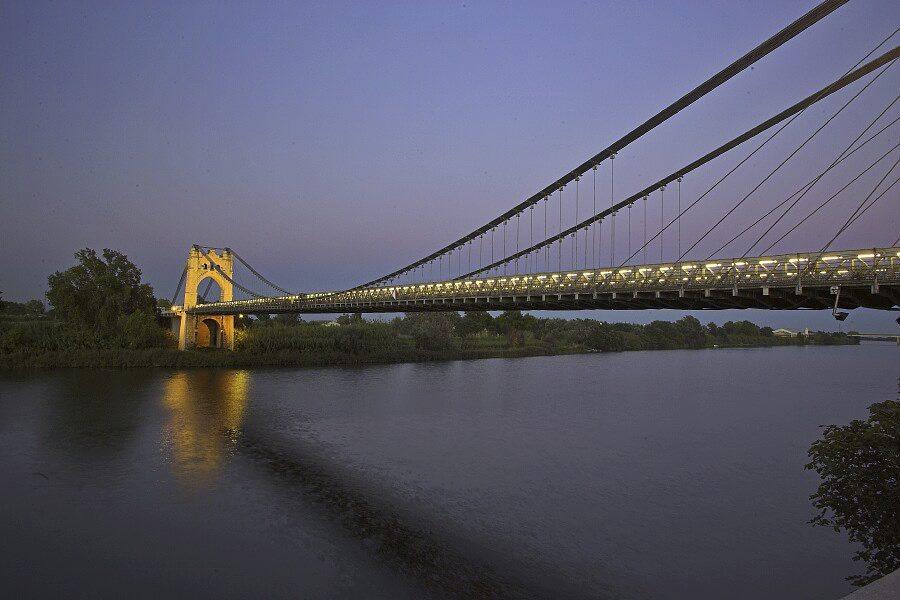 Puente colgante de Amposta, Delta del Ebro