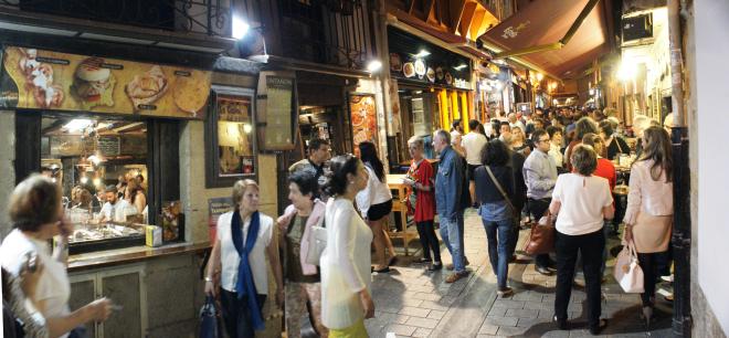 Calle del Laurel en Logroño, capital de La Rioja