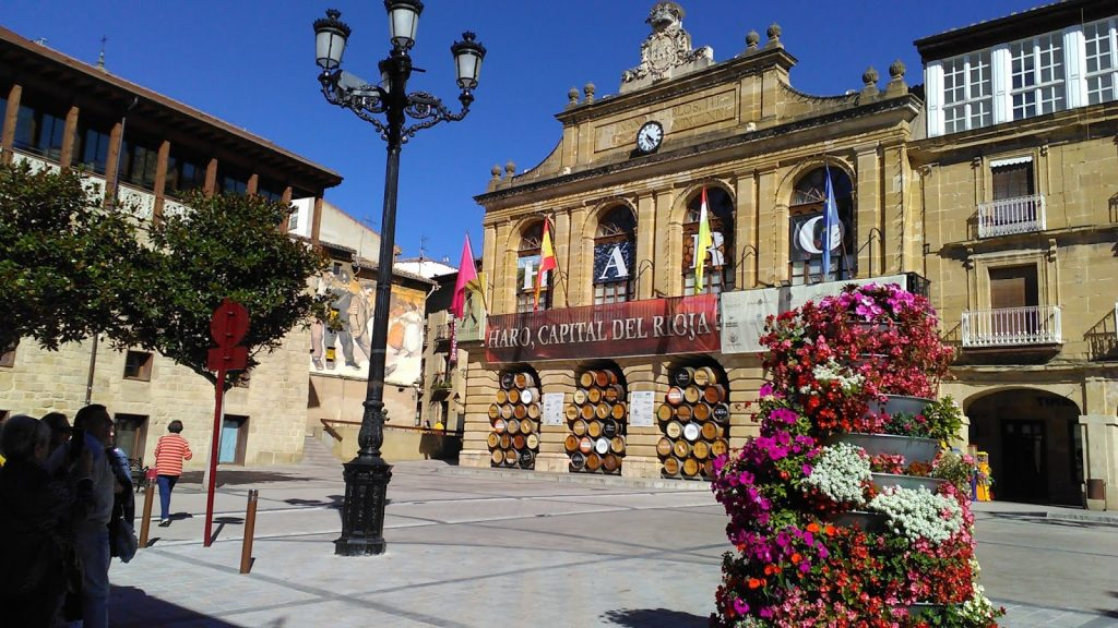 Centro urbano de Haro, durante un viaje en La Rioja Alta