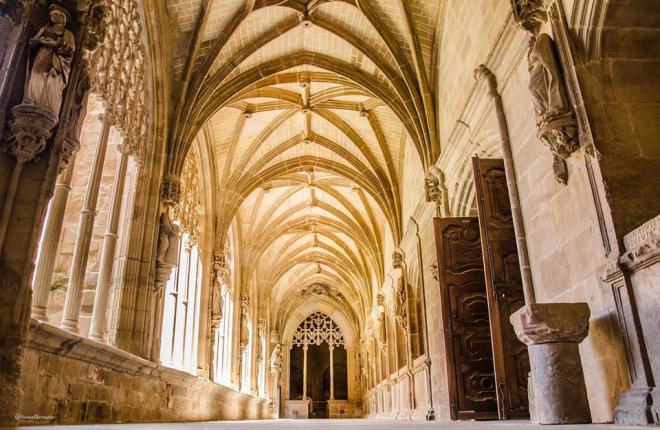 Santa María la Real en Nájera, en La Rioja