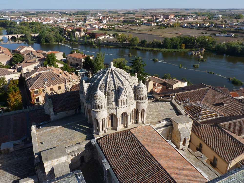Vista área de Catedral de Zamora ciudad