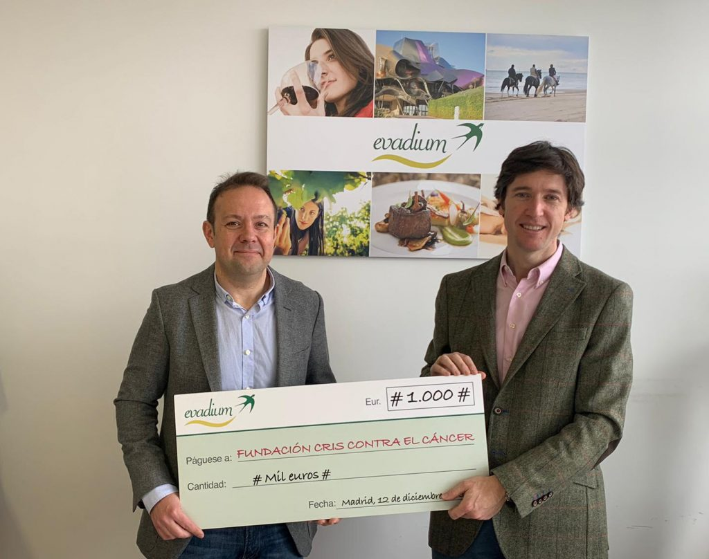 Donativo Evadium a Fundación CRIS contra el cáncer
