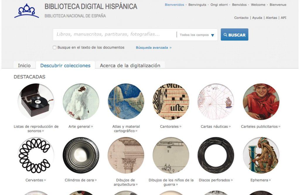 Biblioteca digital española de Biblioteca Nacional