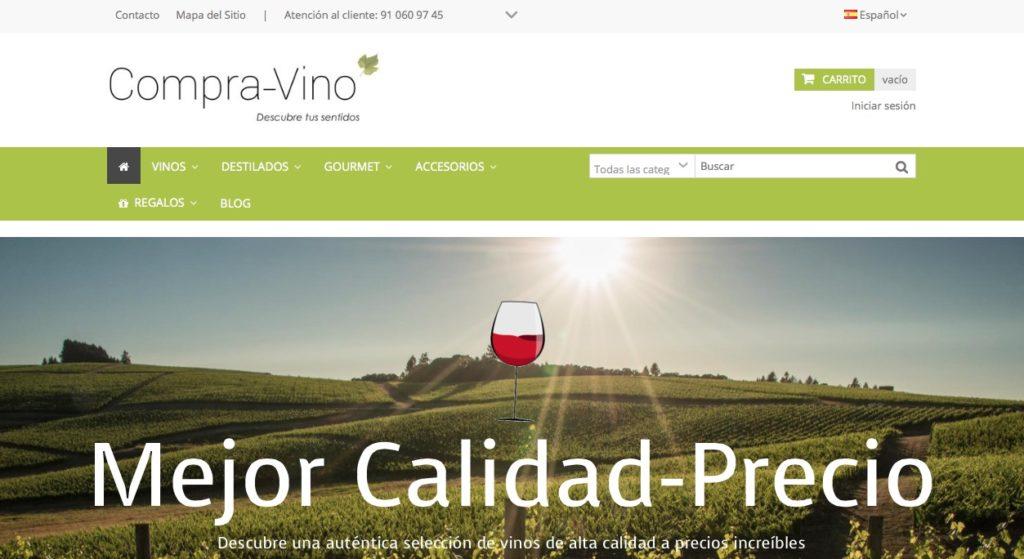 Web de compra de vino Compra vino