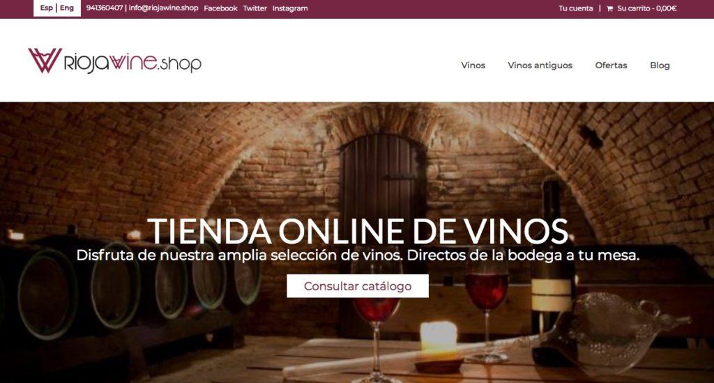 Web de compra de vino Rioja wine shop