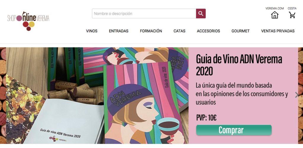 Web de foro y tienda de vinos Verema