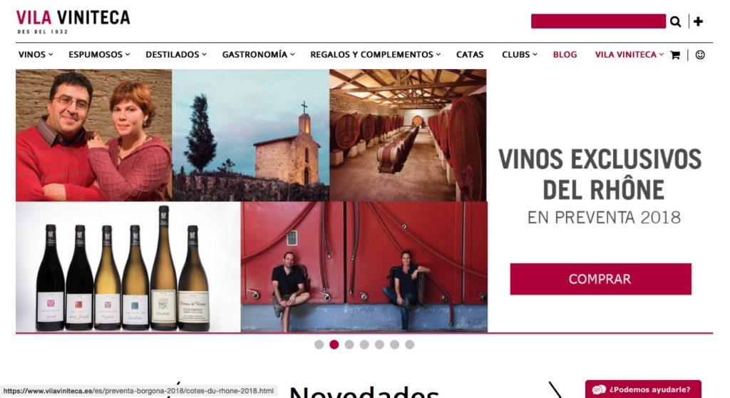 Web de compra de vino Vila Viniteca