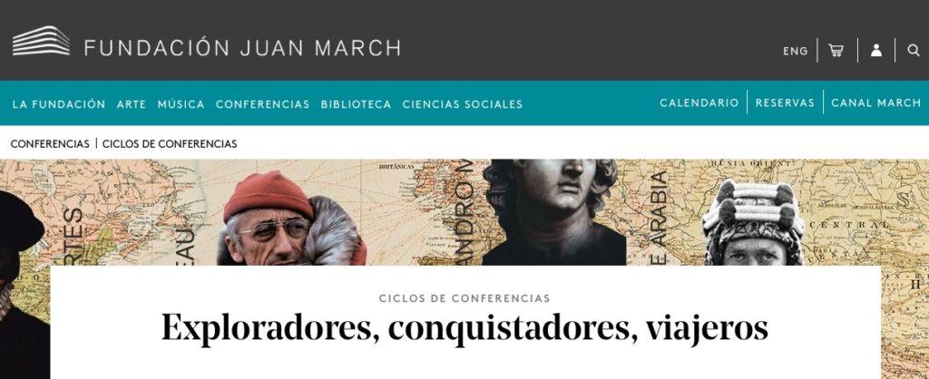 Conferencias de Exploradores de la Fundación Juan March