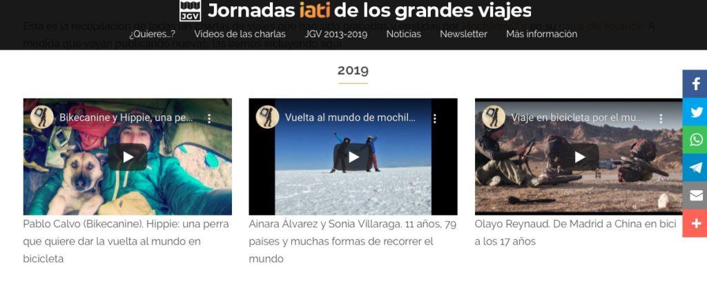 Vídeos de Jornadas IATI de Grandes Viajes