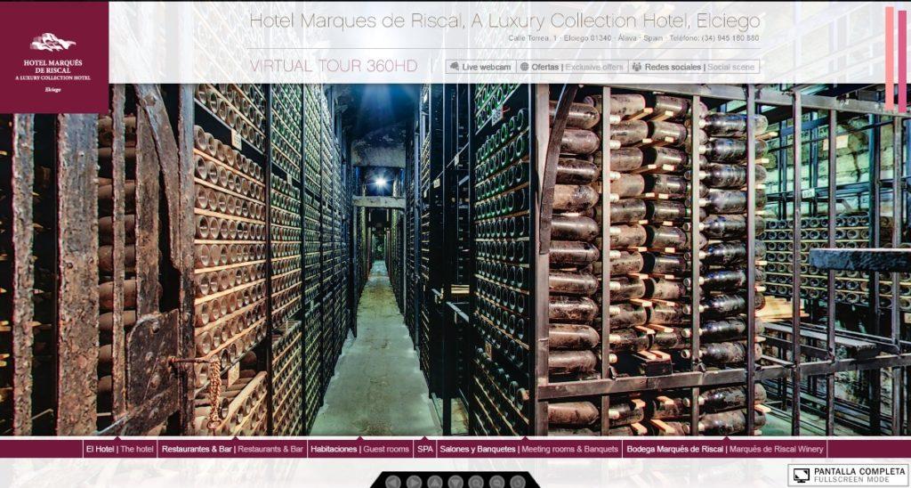 Visita virtual a bodegas de Herederos de Marqués de Riscal, Rioja Alavesa