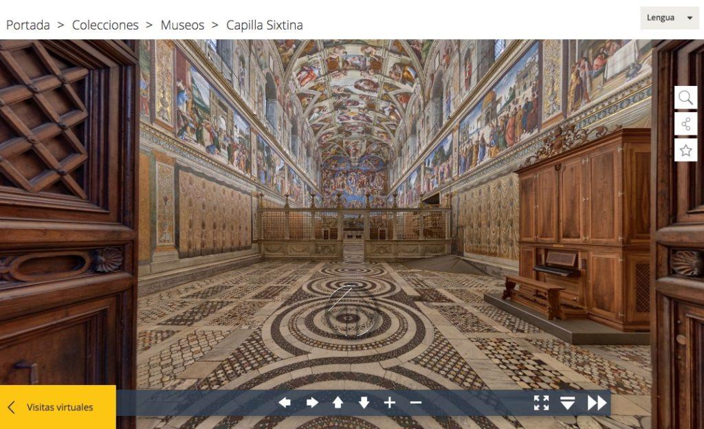 visita virtual a la Capilla Sixtina en Roma, El Vaticano