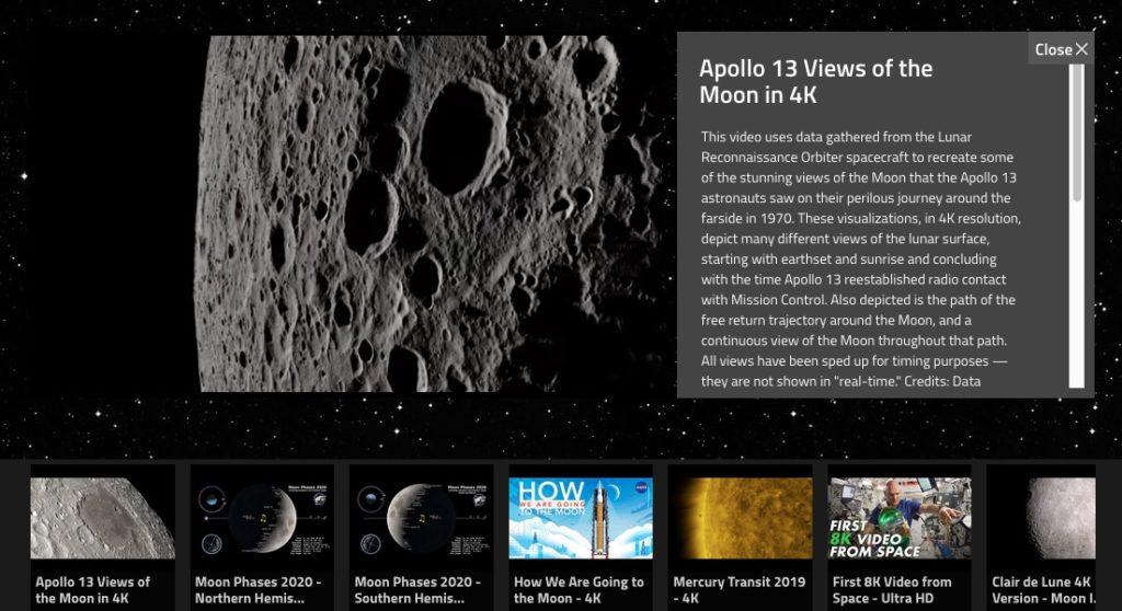 Recorrido virtual por el espacio con la NASA