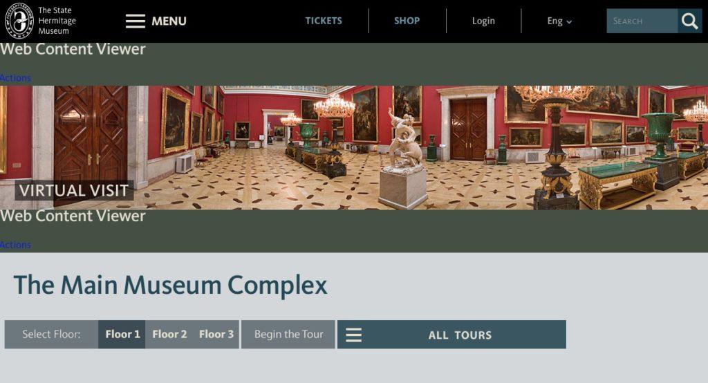 Visita virtual al Museo del Hermitage en San Petersburgo
