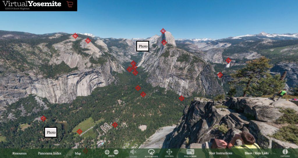 Visita virtual a Parque Nacional de Yosemite en Estados Unidos