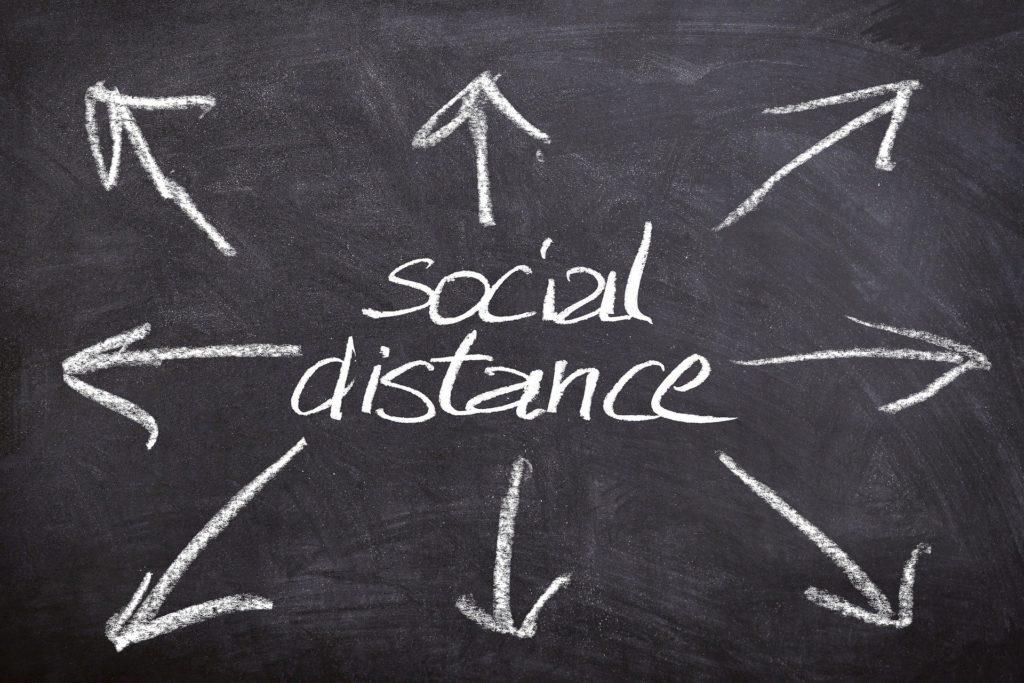 Mantener distancia social por covid19