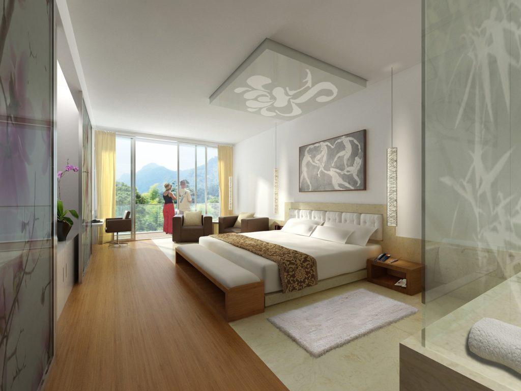 Habitación de hotel para vacaciones de verano