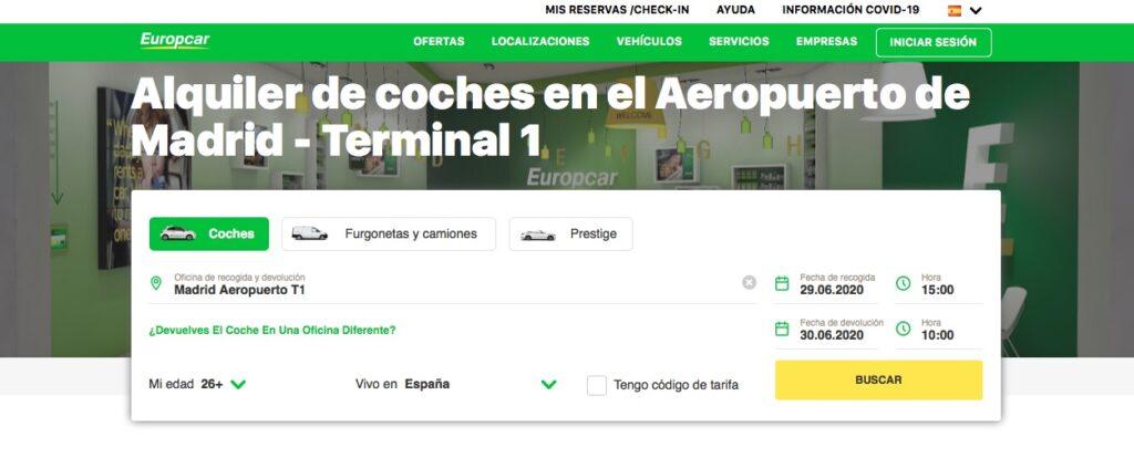 Compañía de alquiler de coches baratos Europcar