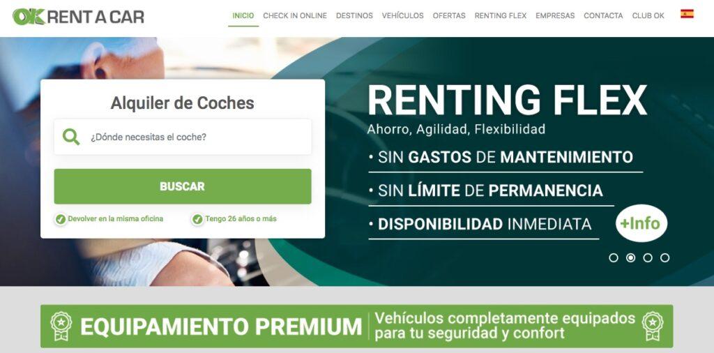Compañía de alquiler de coches baratos Ok Rent a car
