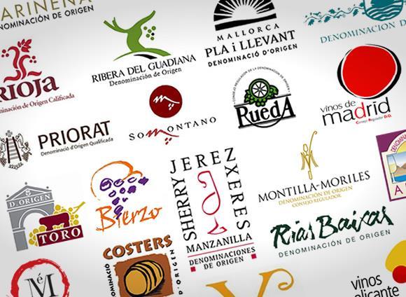 Logos de denominaciones de origen de vinos de España