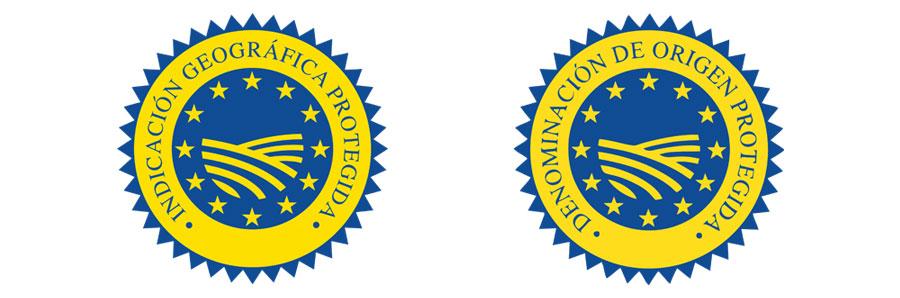Sello de denominación de origen protegida